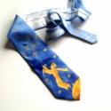A Kisherceg - kézzel festett selyem nyakkendő, Ruha, divat, cipő, Férfiaknak, Férfi ruha, Kézzel festett selyem nyakkendő a Kisherceggel.  Mérete: 9,5 x 142 cm  Kézzel festett hernyóselyem n..., Meska