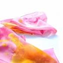 Kis Herceg selyemsál rózsaszínekkel, KÉSZ TERMÉK! A Kis Herceget festettem meg pink s...