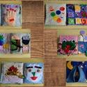 Csendes könyv/ quiet book 12 oldalas, Baba-mama-gyerek, Baba-mama kellék, Fejlesztő játszó könyv kisgyerekeknek. Játszva ismerkesnek meg általa a gyerekek a színek és a számo..., Meska