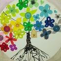 Az élet fája - tavasz: akril vászonkép, Dekoráció, Otthon, lakberendezés, Képzőművészet, Festmény, Egyedi mandala stílusú akrilfestmény: Az élet fája- tavasz. Alapozást követően akrilfestékkel készül..., Meska