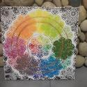 Szivárvány: akril mandala festmény , Otthon & lakás, Képzőművészet, Festmény, Akril, Lakberendezés, Egyedi stílusú, nagy méretű mandala festmény. Világos alapon több színben készültek a mandalák. Az a..., Meska