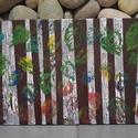 Lidércfény a nyírfák között: modern festmény, Képzőművészet, Festmény, Akril, Vegyes technika, A nyírfa a világmindenség fája. A nyírfák között bármi megeshet- akár lidércekkel is találkozhatunk...., Meska