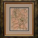 Tavaszi virágok, Képzőművészet, Dekoráció, Otthon, lakberendezés, Kép, Vörösréz lemezre sgraffito és festőzománc technikával készített szecessziós hangulatú kép, mely ízlé..., Meska