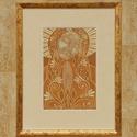 Virágima, Képzőművészet, Dekoráció, Otthon, lakberendezés, Kép, Vajszínű zománcozott vaslemezre sgraffito és festőzománc technikával készítettem a tűzzománc képet, ..., Meska