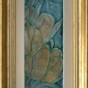 Sárga tulipánok, Képzőművészet, Dekoráció, Otthon, lakberendezés, Kép, Vörösréz lemezre sgraffito és festőzománc technikával készítettem ezt a tűzzománc képet. Fémes csill..., Meska