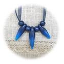 Kék nyakék, Kissé csillogó, sötétkék Fimo effect és átt...