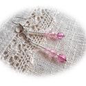 Pasztell ragyogás - fülbevalók, Ékszer, Fülbevaló, Pasztell sárga, rózsaszín, lila áttetsző, illetve arany és ezüst szögletes akril gömbökből,és színbe..., Meska