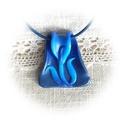Virágzó összefonódás, Ékszer, Magyar motívumokkal, Nyaklánc, Medál, Áttetsző és csillámos FIMO effect ékszergyurmákból készítettem ezt az egyedi formájú, kék árnyalatú,..., Meska