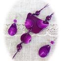 Kör körön megmarad : ) ékszer szett, Ékszer, Nyaklánc, Medál, Fülbevaló, FIMO ékszergyurmából saját kezűleg készítettem ezt a dekoratív, csodaszép lila színárnyal..., Meska