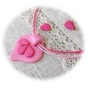 """""""Vattacukor"""" : ) ékszer szett, Ékszer, Nyaklánc, Medál, Fülbevaló, Igazi csajos, különleges formájú medál kis pont fülbevalókkal, amit kétféle rózsaszín és egy pink ár..., Meska"""