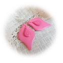 """""""Vattacukor"""" : ) fülbevaló, Ékszer, Fülbevaló, Igazi csajos, különleges formájú fülbevaló, amit kétféle rózsaszín és egy pink árnyalatú ékszergyurm..., Meska"""