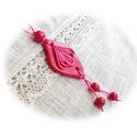 Kecses virágkelyhes nyaklánc, Ékszer, Nyaklánc, A varázslatosan szép színű nyaklánc egymással harmonizáló sötétebb, erősebb és halványabb árnyalatú ..., Meska