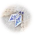 Csak egy kék színű virág... - tűzzománc fülbevaló, Ékszer, Fülbevaló, Azonnal ez a régi, kedves Tolcsvay szám jutott az eszembe a névadáskor, mert valóban csak egy kis ké..., Meska
