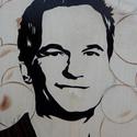 Barney Stinson intarzia falikép, Dekoráció, Otthon, lakberendezés, Kép, Falikép, Famegmunkálás, Eladó a képen látható Patrick Neil Harris alias Barney Stinsont ábrázoló intarzia. Ez egy egyedi, k..., Meska