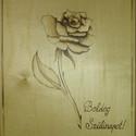 Születésnapi Rózsa intarzia, asztali kép, falikép, Dekoráció, Otthon, lakberendezés, Dísz, Falikép, Famegmunkálás, A képen látható Rózsa intarzia már elkelt, de megrendelésre tudok készíteni ugyanilyet vagy más has..., Meska