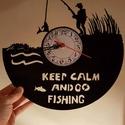 Horgász bakelit óra, A képen látható termék egyéni megrendelésre ...