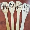 Fakanál készlet, Snoopy, 3 db bambusz és 1 db egyéb fából készült fak...