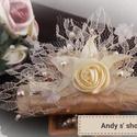 Esküvői hajdísz, Ha esküvő akkor szatén , csipke és gyöngyök....