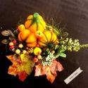 Őszi tál, Dekoráció, Otthon, lakberendezés, Dísz, Asztaldísz, Holnap az ősz első napja. Parázsló színkavalkád időszaka következik melyet ez a kompozíció ősszefogl..., Meska