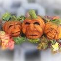 """""""Tök jó fejek"""" Halloween asztali dísz, Dekoráció, Otthon, lakberendezés, Dísz, Asztaldísz, Mindenszentek éjszakáján kísértetek járnak Seprűn gonosz lelkek, rút boszorkák szállnak Holtak ünnep..., Meska"""