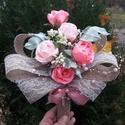 Romantikus rózsacsokor, Dekoráció, Csokor, Örök csokor örök romantikusoknak, névnaposoknak, születésnaposoknak  hazassági évfordulósoknak , vag..., Meska