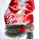 Karácsonyi ajtódísz, Dekoráció, Karácsonyi, adventi apróságok, Otthon, lakberendezés, Ünnepi dekoráció, Karácsonyi dekoráció, Ajtódísz, kopogtató,  Szeretettel keszítettem ezt a klasszikus ajtódíszt.  Tervezésnél hagyományos kivitelre, egyszerűség..., Meska