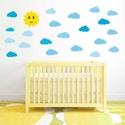 Gyerekszoba matrica szett felhők_V1 -  Ingyen szállítással, Dekoráció, Baba-mama-gyerek, Gyerekszoba, Falmatrica, Fotó, grafika, rajz, illusztráció, Gyerekszoba matrica szett felhők_V1 - ingyen szállítással  Díszítsd fel a kis lurkók szobáját ezekk..., Meska