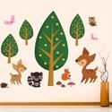 Falmatrica , faldekoráció erdei állatok_004, Dekoráció, Baba-mama-gyerek, Falmatrica, Gyerekszoba, Fotó, grafika, rajz, illusztráció, Az ár a képen látható egyedi falmatrica szettet tartalmazza  100x77cm méretben, ára: 8.800 Ft  Kérh..., Meska