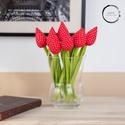 Textil tulipán piros/fehér , A textil tulipán nappalink egyik legszebb dísze ...
