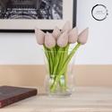Textil tulipán barna/fehér , A textil tulipán nappalink egyik legszebb dísze ...