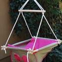"""Babahinta, fejlesztő hinta """"pink"""" INDIGO handmade, Baba-mama-gyerek, Baba-mama kellék, Gyerekszoba, Gyerekbútor, Famegmunkálás, Varrás, INDIGO handmade Vásárolj magyar kézműves készítőtől!  Kinek, miért ajánljuk? Ezt a hintát ajánljuk ..., Meska"""