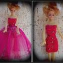 2 részes ruha Barbi méretű babára.Egyedi,ciklámen., Baba-mama-gyerek, Játék, Baba játék, Varrás, Barbi méretű babának készült ruha. Pink színű mini ruha,hátoldalán tépőzáras szoknya résszel,így na..., Meska