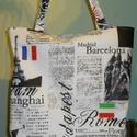 Budapest-Róma - Vászon táska