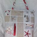 BEACH - táska, Baba-mama-gyerek, Táska, Szatyor, Már a nyárra készülök.  :)  Erős, jó minőségű vászonból készült. Dekoratív mintája miatt igazán felt..., Meska