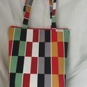 RETRO - táska, Baba-mama-gyerek, Táska, Szatyor, Erős, jó minőségű vászonból készült.  Bélelt.  Egyszerű fazon, cipzárral. Belül zseb és kulcstartó. ..., Meska
