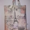 Bonjour Paris - bevásárló táska
