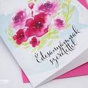 """Édesanyámnak szeretettel - üdvözlőlap borítékkal, Képzőművészet, Naptár, képeslap, album, Grafika, Képeslap, levélpapír, """"Édesanyámnak szeretettel"""" üdvözlőlap borítékkal  Saját grafikámmal díszített A6-ös méretű üdvözlőla..., Meska"""