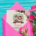Esküvői meghívó - Meghívó - Vintage esküvő - Virágos meghívó, Esküvő, Naptár, képeslap, album, Mindenmás, Meghívó, ültetőkártya, köszönőajándék, Fotó, grafika, rajz, illusztráció, Esküvői meghívó - Meghívó - Vintage esküvő - Virágos meghívó  A virágos esküvői meghívó vintage stí..., Meska