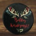 Karácsonyi mágnes - boldog karácsonyt mágnes - szarvas hűtőmágnes - őz mágnes - karácsony mágnes - karácsony ajándék, Dekoráció, Állatfelszerelések, Férfiaknak, Mindenmás, Karácsonyi mágnes - boldog karácsonyt mágnes - szarvas hűtőmágnes - őz mágnes - karácsony mágnes - k..., Meska
