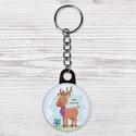 Karácsonyi kulcstartó - boldog karácsony kulcstartó- szarvas kulcstartó - állat kulcstartó - őz kulcstartó - ajándék, Dekoráció, Állatfelszerelések, Mindenmás, Kulcstartó, Karácsonyi kulcstartó - boldog karácsony kulcstartó- szarvas kulcstartó - állat kulcstartó - őz kulc..., Meska