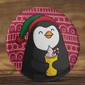 Karácsonyi tükör - Pingvin tükör - forró csoki tükör - állat zsebtükör - madár tükör - ajándék - sapka - manó sapka, Ékszer, Dekoráció, Mindenmás, Karácsonyi tükör - Pingvin tükör - forró csoki tükör - állat zsebtükör - madár tükör -..., Meska