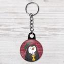 Karácsonyi kulcstartó - Pingvin kulcstartó - forró csoki kulcstartó - állat kulcstartó - madár kulcstartó - ajándék, Dekoráció, Állatfelszerelések, Mindenmás, Kulcstartó, Fotó, grafika, rajz, illusztráció, Karácsonyi kulcstartó - Pingvin kulcstartó - forró csoki kulcstartó - állat kulcstartó - madár kulc..., Meska