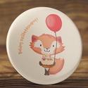 Róka kitűző - cuki rókás bross - boldog születésnapot kitűző - állatos kitűző - masnis róka kitűző - kitűző - torta, Ruha, divat, cipő, Mindenmás, Ékszer, Bross, kitűző, Fotó, grafika, rajz, illusztráció, Róka kitűző - cuki rókás bross - boldog születésnapot kitűző - állatos kitűző - masnis róka kitűző ..., Meska