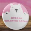 Boldog valentin napot jegesmaci mágnes - medve mágnes - valentin nap - szerelmes ajándék - szeretlek mágnes - maci, Dekoráció, Állatfelszerelések, Férfiaknak, Mindenmás, Boldog valentin napot jegesmaci mágnes - medve mágnes - valentin nap - szerelmes ajándék - szeretlek..., Meska