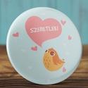 Szeretlek madár kitűző - madaras bross- valentin nap - szerelmes ajándék - szeretlek kitűző - kis madár - szív , Mindenmás, Ékszer, Szerelmeseknek, Bross, kitűző, Szeretlek madár kitűző - madaras bross- valentin nap - szerelmes ajándék - szeretlek kitűző -..., Meska
