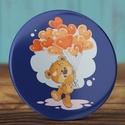 Szeretlek maci tükör  - medve zsebtükör - valentin nap - szerelmes ajándék - szeretlek tükör - maci - szív - piros lufi, Ékszer, Dekoráció, Mindenmás, Szeretlek maci tükör  - medve zsebtükör - valentin nap - szerelmes ajándék - szeretlek tükör - maci ..., Meska
