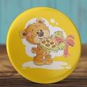 Szeretlek maci mágnes - medve hűtőmágnes - valentin nap - szerelmes ajándék - szeretlek kitűző - maci - szív - piros , Dekoráció, Mindenmás, Valentin napra, Otthon, lakberendezés, Szeretlek maci mágnes - medve hűtőmágnes - valentin nap - szerelmes ajándék - szeretlek kitűző - mac..., Meska