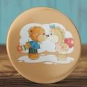 Szeretlek maci kitűző - medve bross- valentin nap - szerelmes ajándék - szeretlek kitűző - maci - szív - pár - virág, Ruha, divat, cipő, Ékszer, Szerelmeseknek, Bross, kitűző, Szeretlek maci kitűző - medve bross- valentin nap - szerelmes ajándék - szeretlek kitűző - mac..., Meska