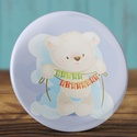 Boldog szülinapot maci mágnes - medve hűtőmágnes - happy birthday - cuki ajándék - szülinap tükör - maci - születésnap, Dekoráció, Mindenmás, Otthon, lakberendezés, Boldog szülinapot maci mágnes - medve hűtőmágnes - happy birthday - cuki ajándék - szülinap tükör - ..., Meska