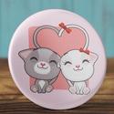 Valentin napi cica kitűző - macska bross- szeretlek - szerelmes ajándék - szerelmes pár - cica - rózsaszín - macska, Ruha, divat, cipő, Ékszer, Szerelmeseknek, Bross, kitűző, Valentin napi cica kitűző - macska bross- szeretlek - szerelmes ajándék - szerelmes pár - cica ..., Meska